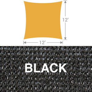 SS-12 Square Shade Sail - Black