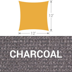 SS-12 Square Shade Sail - Charcoal