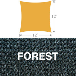 SS-12 Square Shade Sail - Forest