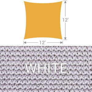SS-12 Square Shade Sail - White