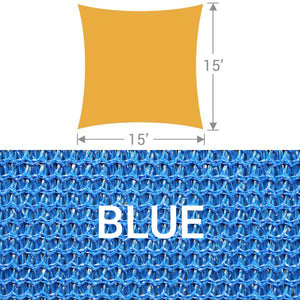 SS-15 Square Shade Sail - Blue