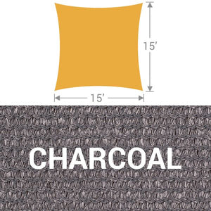 SS-15 Square Shade Sail - Charcoal