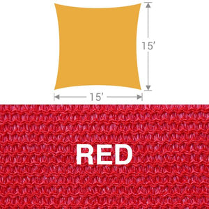 SS-15 Square Shade Sail - Red