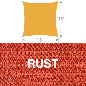 SS-15 Square Shade Sail - Rust