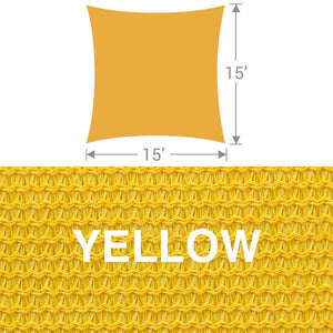 SS-15 Square Shade Sail - Yellow