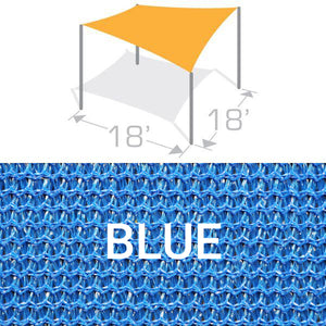 SS-18 Sail Shade Structure Kit - Blue