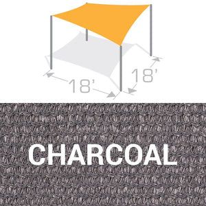 SS-18 Sail Shade Structure Kit - Charcoal