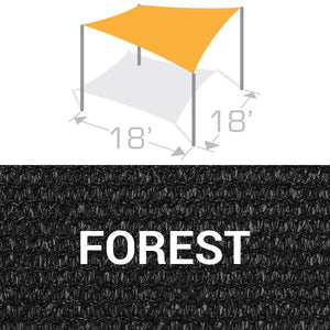 SS-18 Sail Shade Structure Kit - Forest