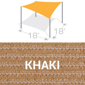 SS-18 Sail Shade Structure Kit - Khaki
