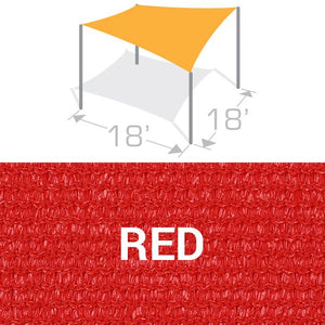 SS-18 Sail Shade Structure Kit - Red