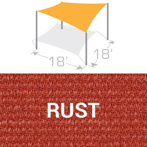 SS-18 Sail Shade Structure Kit - Rust
