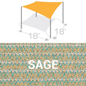 SS-18 Sail Shade Structure Kit - Sage