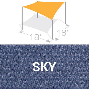 SS-18 Sail Shade Structure Kit - Sky