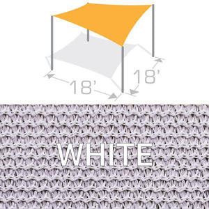 SS-18 Sail Shade Structure Kit - White
