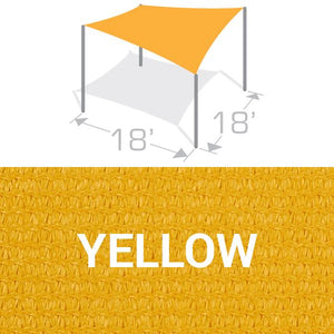 SS-18 Sail Shade Structure Kit - Yellow