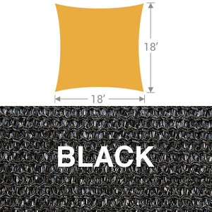 SS-18 Square Shade Sail - Black