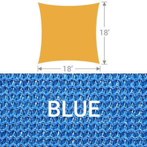 SS-18 Square Shade Sail - Blue