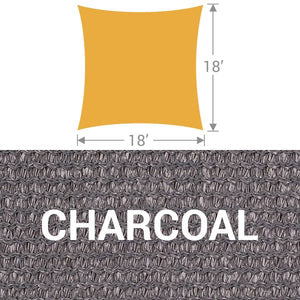 SS-18 Square Shade Sail - Charcoal