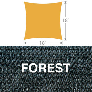 SS-18 Square Shade Sail - Forest