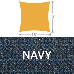 SS-18 Square Shade Sail - Navy