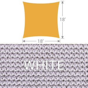 SS-18 Square Shade Sail - White