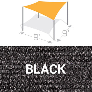 SS-9 Sail Shade Structure Kit - Black