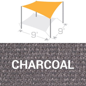 SS-9 Sail Shade Structure Kit - Charcoal
