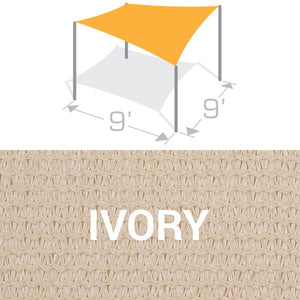 SS-9 Sail Shade Structure Kit - Ivory