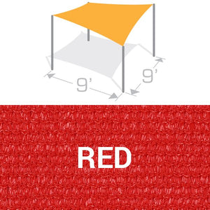 SS-9 Sail Shade Structure Kit - Red