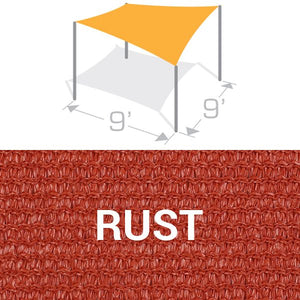 SS-9 Sail Shade Structure Kit - Rust