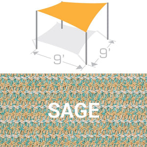 SS-9 Sail Shade Structure Kit - Sage