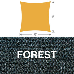 SS-9 Square Shade Sail - Forest