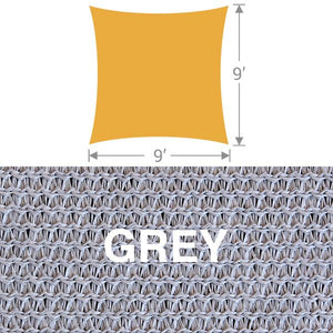 SS-9 Square Shade Sail - Grey