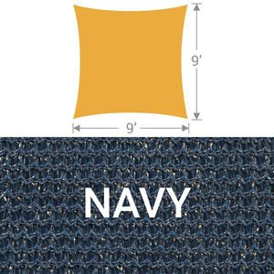 SS-9 Square Shade Sail - Navy
