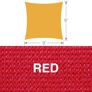 SS-9 Square Shade Sail - Red