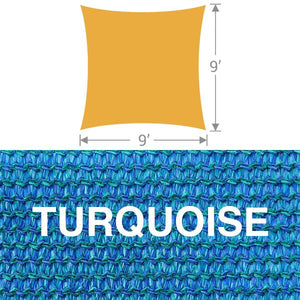 SS-9 Square Shade Sail - Turquoise