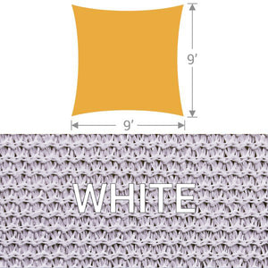 SS-9 Square Shade Sail - White