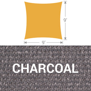 SS-9 Square Shade Sail - Charcoal