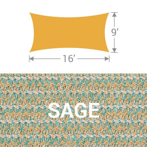 RS-916 Rectangle Shade Sail - Sage