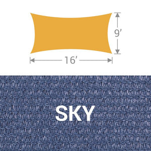 RS-916 Rectangle Shade Sail - Sky
