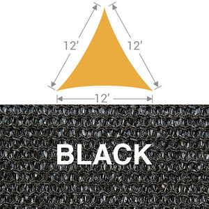 TS-12 Triangle Shade Sail - Black