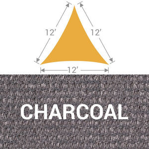 TS-12 Triangle Shade Sail - Charcoal