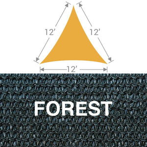 TS-12 Triangle Shade Sail - Forest