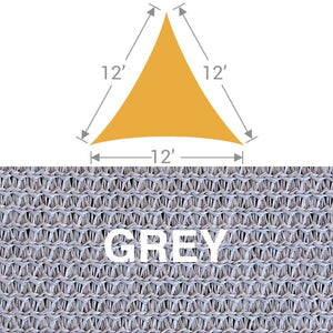 TS-12 Triangle Shade Sail - Grey