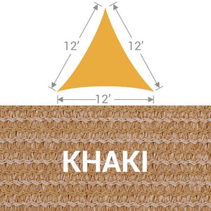 TS-12 Triangle Shade Sail - Khaki