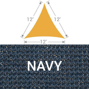 TS-12 Triangle Shade Sail - Navy