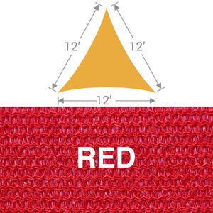 TS-12 Triangle Shade Sail - Red