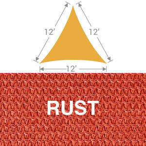 TS-12 Triangle Shade Sail - Rust
