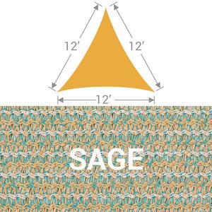 TS-12 Triangle Shade Sail - Sage