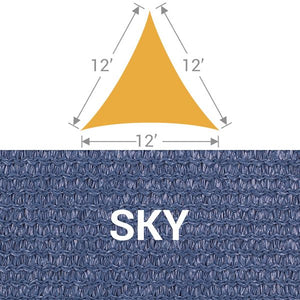 TS-12 Triangle Shade Sail - Sky